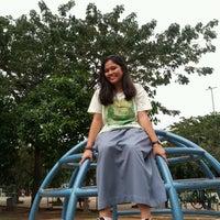 Photo taken at Taman Menteng Playground by Khalda A. on 5/10/2013