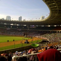 Photo taken at Stadion Utama Gelora Bung Karno (GBK) by Afifah Z. on 3/30/2013