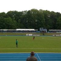 Photo taken at Stade Fallonstadion by Nicolas C. on 5/19/2013