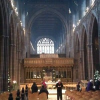 Photo taken at Manchester Cathedral by Ernesto S. on 12/25/2012