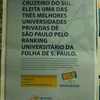 Photo taken at Universidade Cruzeiro do Sul by Arllansp on 9/20/2012