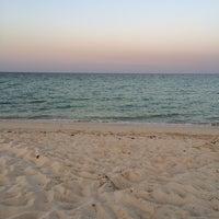 Photo taken at ras laffan beach by Fahad J. on 9/20/2014