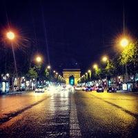 Photo taken at Avenue des Champs-Élysées by Fahad J. on 7/25/2013