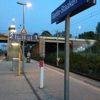 Photo taken at Bahnhof Berlin-Staaken by Mateusz on 9/16/2012