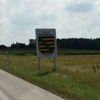 Photo taken at Landesgrenze Sachsen / Thüringen by CoF on 8/7/2014