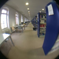 Photo taken at Bibliothèque Sainte-Barbe by Alejandro R. on 5/28/2014