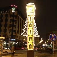 Photo taken at Laimas Pulkstenis   Laima clock by Robert H. on 12/20/2012