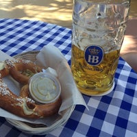 Photo taken at Hofbräu München Beer Hall by Ana on 4/6/2013