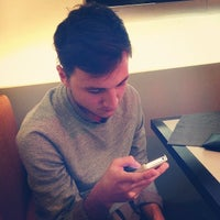Photo taken at EMPORIO ARMANI CAFFE by Константин Г. on 10/24/2012