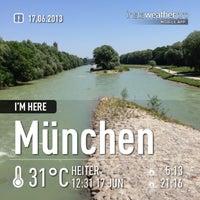 Photo taken at Wittelsbacherbrücke by Nicole B. on 6/17/2013