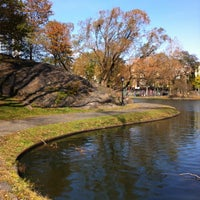 Photo taken at Harlem Meer by David C. on 11/9/2012