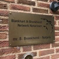 Photo taken at Blankhart & Bronkhorst Notarissen by Jeroen R. on 8/15/2017