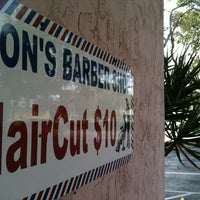 Photo taken at Ron's Barber Shop by iLove F. on 12/8/2012