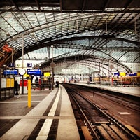 Photo taken at Berlin Central Station by Andrés Z. on 2/14/2013