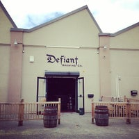 Photo taken at Defiant Brewing Co. by Mika T. on 4/5/2014