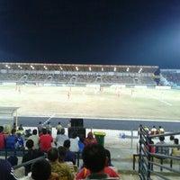 Photo taken at Stadion Kaharudin Nasution by Aditya H. on 1/12/2013