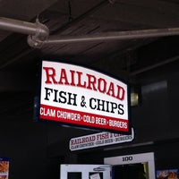 Photo taken at Railroad Fish & Chips by David W. on 7/12/2014