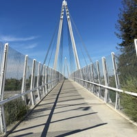 Photo taken at Mary Avenue Bicycle Footbridge by Grace on 3/14/2015