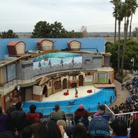 Photo taken at Sea Lion and Otter Stadium by Phuong.J on 12/25/2012