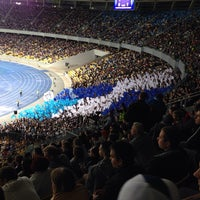 Photo taken at Olimpiyskiy Stadium by Денис on 9/1/2013