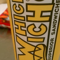 Photo taken at Which Wich? Superior Sandwiches by Chris B. on 9/24/2012