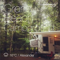 Photo taken at Grand Beach Campground by Ian M. on 8/31/2014