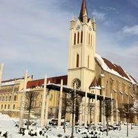 Photo taken at Fő tér by Erika on 1/16/2013