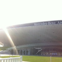 Photo taken at 梅赛德斯奔驰文化中心 Mercedes-Benz Arena by Lucky Destroyer on 4/30/2013