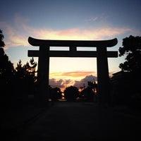 Photo taken at Hakozakigu Shrine by ハラダ ユ. on 7/15/2013