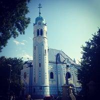 Photo taken at Kostol sv. Alžbety (The Blue Church) by Kostik on 7/11/2013