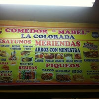 "Photo taken at Comedor ""Mabel"" La Colorada by Sara B. on 7/6/2013"