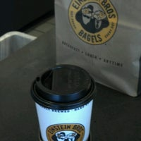 Photo taken at Einstein Bros Bagels by Devon L. on 9/30/2012