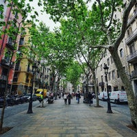 Photo taken at Passeig del Born by Carlos P. on 4/25/2016