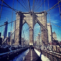 Photo taken at Brooklyn Bridge Promenade by Carlos P. on 2/10/2013