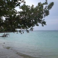Photo taken at Playa Puntilla Barú by Maria on 10/31/2012