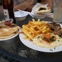 Photo taken at Hummus Bar by Fabricia C. on 6/29/2013