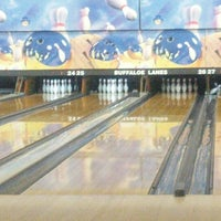Photo taken at Buffaloe Lanes North Bowling Center by William S. on 12/29/2012