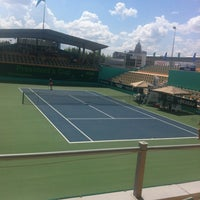 Photo taken at Daulet National Tennis Centre by Timur S. on 7/24/2013