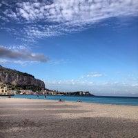 Photo taken at Spiaggia di Mondello by Yana Y. on 10/9/2012