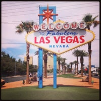 Photo taken at Welcome To Fabulous Las Vegas Sign by Yana Y. on 4/19/2013