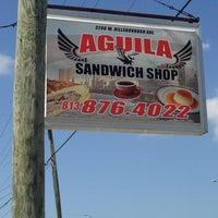 Photo taken at Aguila Sandwich Shop by Kristen H. on 2/11/2013