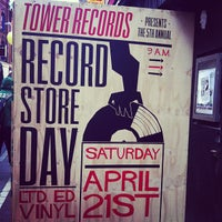Photo taken at Tower Records by Ben L. on 4/21/2012