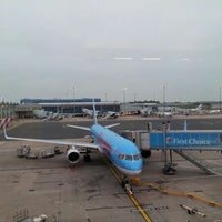Photo taken at Birmingham Airport (BHX) by David W. on 5/28/2012