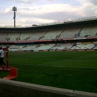 Photo taken at Free State Stadium (Vodacom Park) by Pieter E. on 10/6/2012
