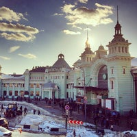 Photo taken at Belorussky Rail Terminal by Andrey K. on 3/28/2013