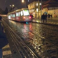 Photo taken at Malostranská (tram) by Siarhej on 11/29/2012