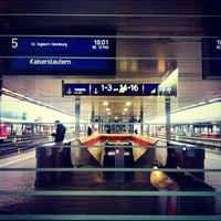 Photo taken at Saarbrücken Hauptbahnhof by Vugar G. on 11/1/2012