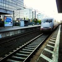 Photo taken at Frankfurt Niederrad Railway Station by Vugar G. on 5/5/2013