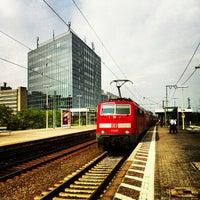 Photo taken at Frankfurt Niederrad Railway Station by Vugar G. on 8/24/2013