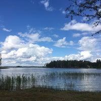 Photo taken at Alauksta ezers by Katrīna L. on 7/22/2017